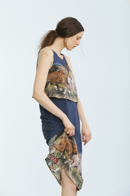 Carleen Overlay Dress - Horses