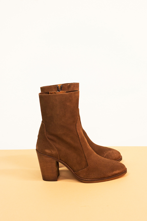 CORSSWALK Castana Suede Ankle Boot- Brown