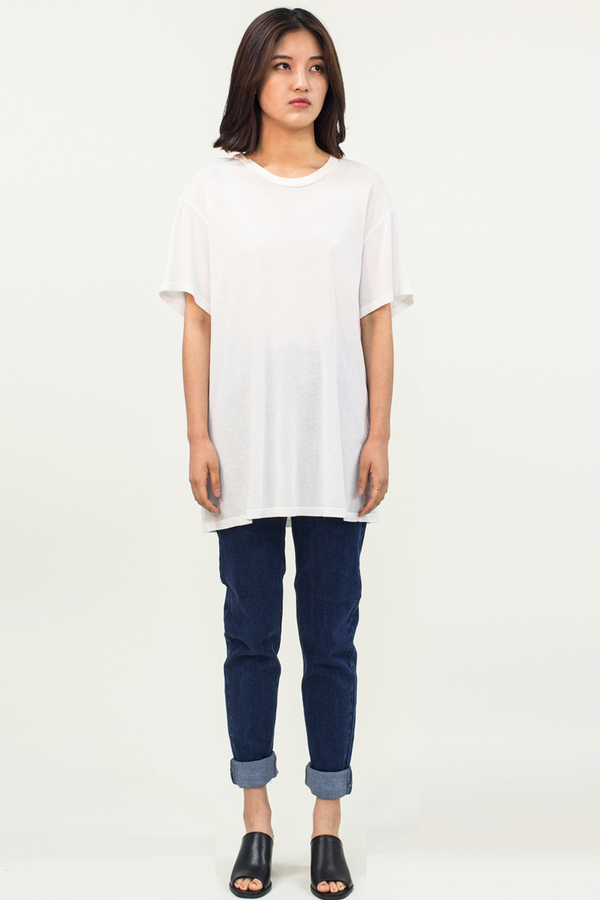 LACAUSA Gauze Boy Tee- White