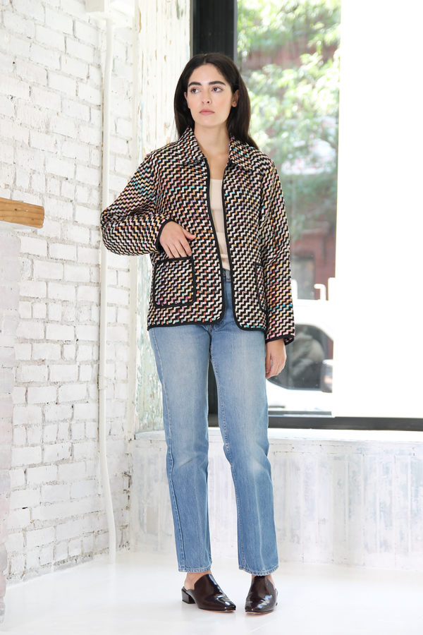 DUO NYC Vintage Silk Woven Jacket