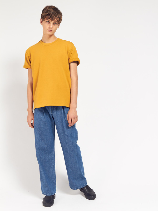 Men's Fanmail SS Sweat - Arrowwood Yellow