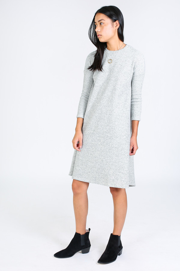 Ursa Minor Fallon dress in oatmeal stripe