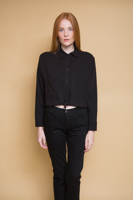 First Rite Tie Work Shirt / Black
