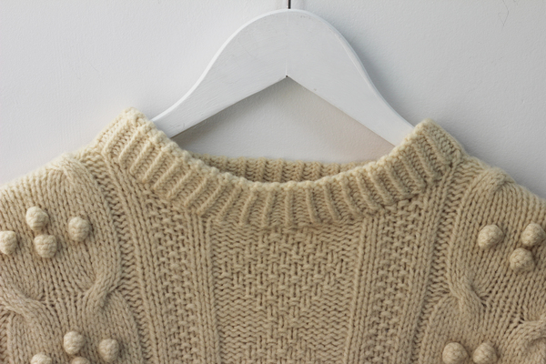 Hey Jude Heavy Knit Wool Crewneck