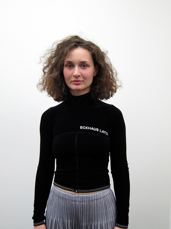 Eckhaus Latta Lapped Turtleneck, Black