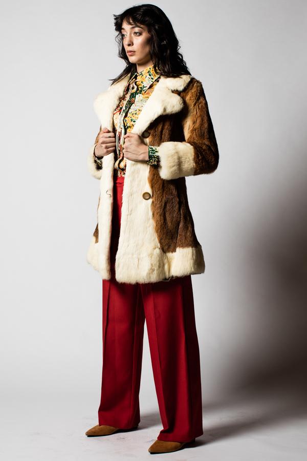 Blacksheep Vintage Ginger Fur Coat