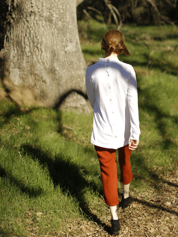 Calder Blake Nan Long-Sleeve Button-Back