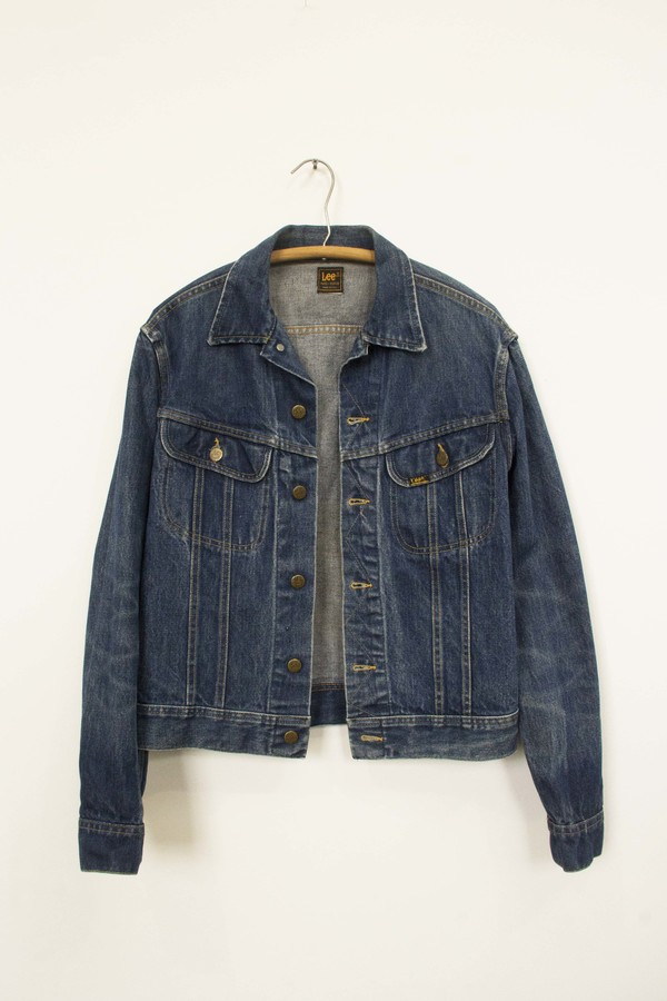 VINTAGE LEE DARK DENIM JEAN JACKET
