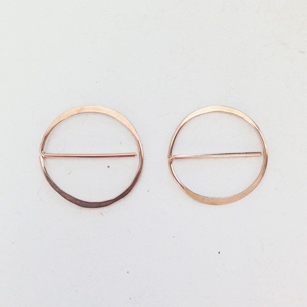 ERICA WEINER - UNIVERSAL NO IN ROSE GOLD EARRINGS