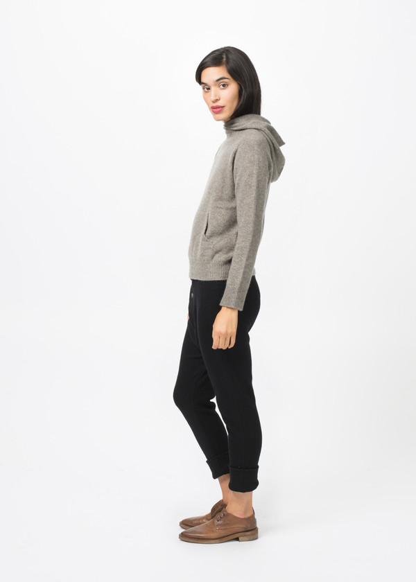 Evam Eva Cashmere Seamless Hooded Pullover