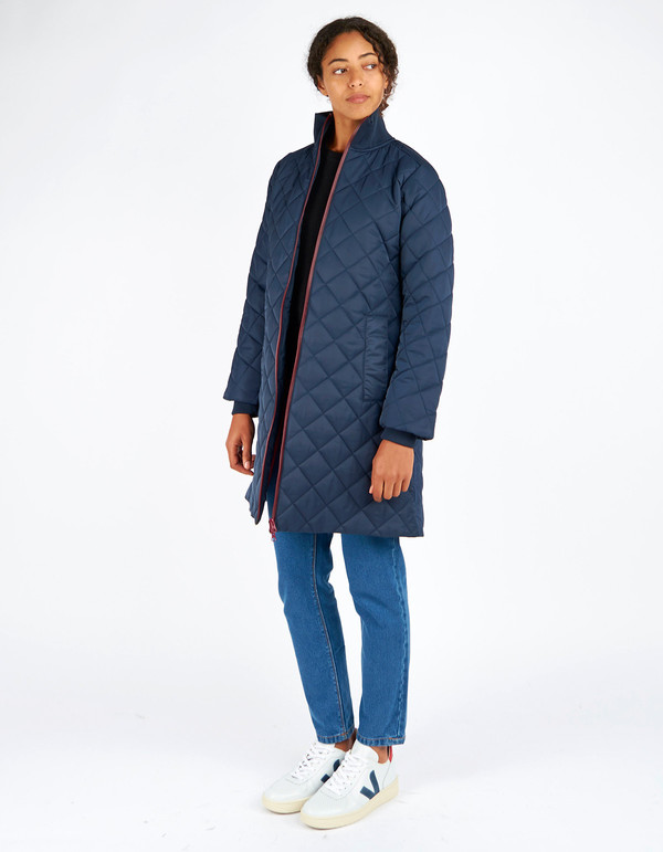 Ganni Greenwood Quilted Jacket Total Eclipse