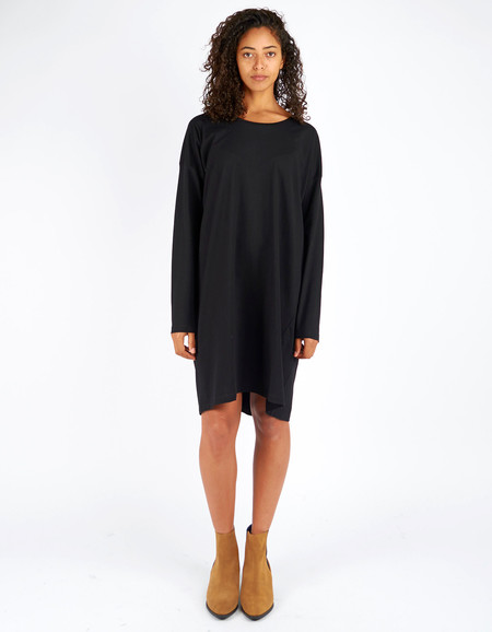 Kowtow Building Block Relaxed Tee Dress Black