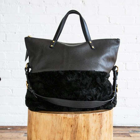 Kempton & Co Aversion Shearling Tote