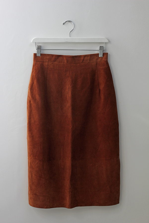 Hey Jude Vintage Rust Suede Skirt
