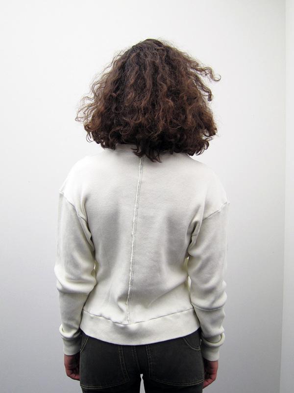Eckhaus Latta Lapped Sweatshirt, Cream