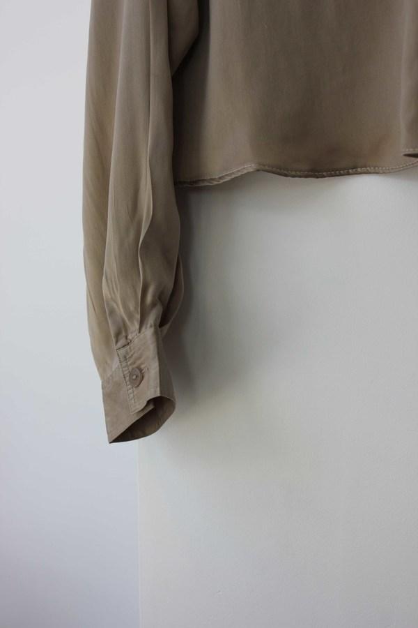 Hey Jude Vintage Cropped Silk Longsleeve
