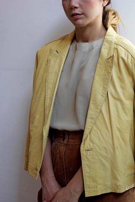 Hey Jude Golden Leather Jacket