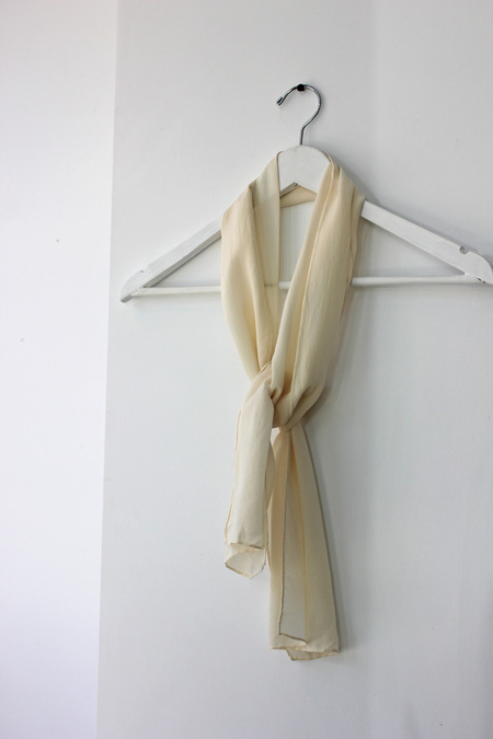 Hey Jude Vintage Cream Silk Scarf