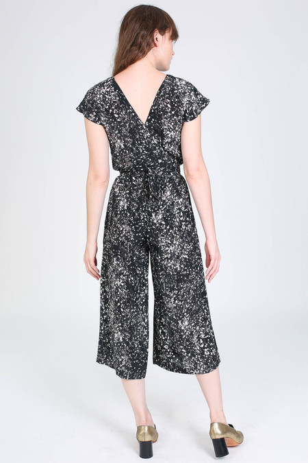 No.6 Store Winona jumpsuit in black/white spray