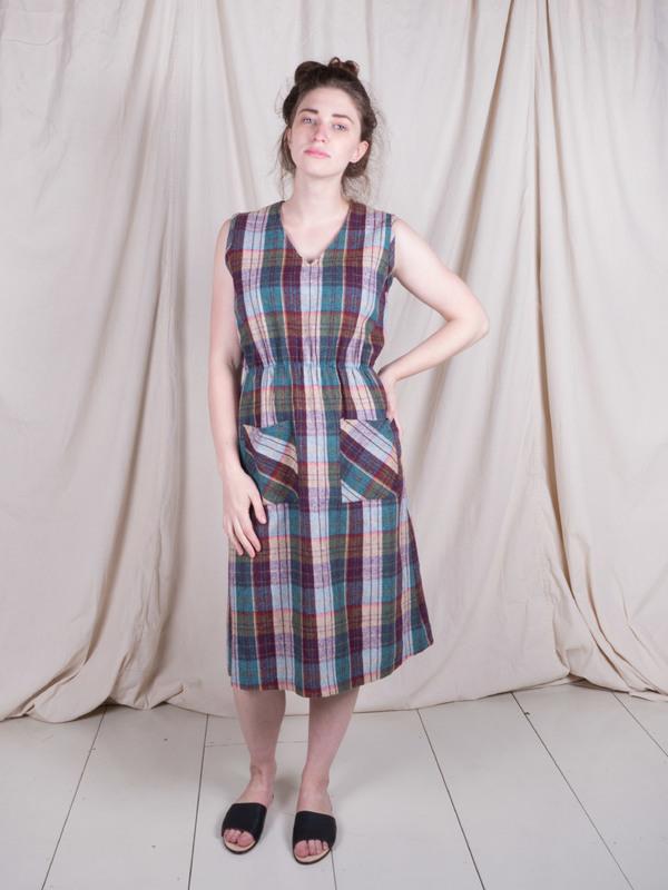 Vintage Plaid Wool Dress