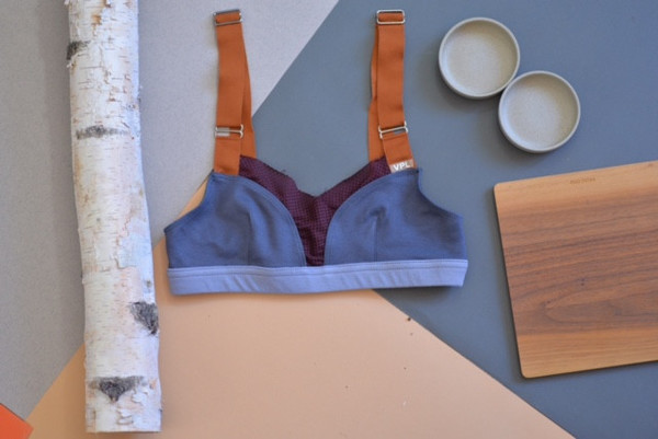 "VPL B  Bra ""Upcycle"" - Grey/Plum"