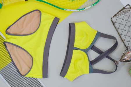 VPL B Bra Swim & Workout Top - Lemon Lime