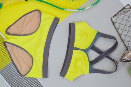 VPL B Bra Swim & Workout Top - Lemon Lime