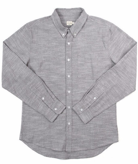 Men's Bridge & Burn Fulton Shirt / Grey Slub