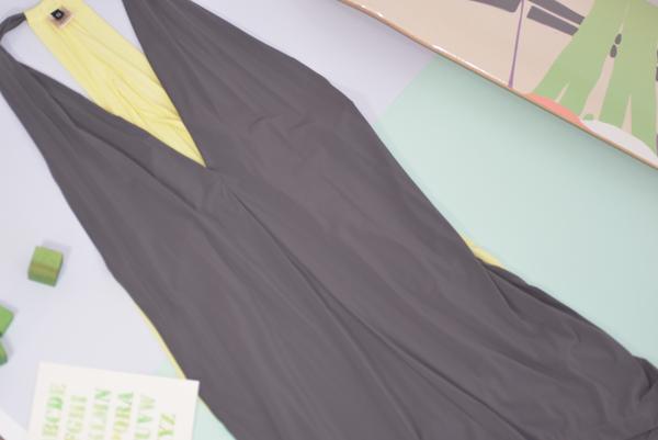 VPL Exertion Dress: Grey x Lemon Lime