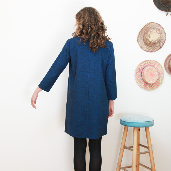 Me & Arrow Fuzzy Dress - Fuzzy Heather Navy
