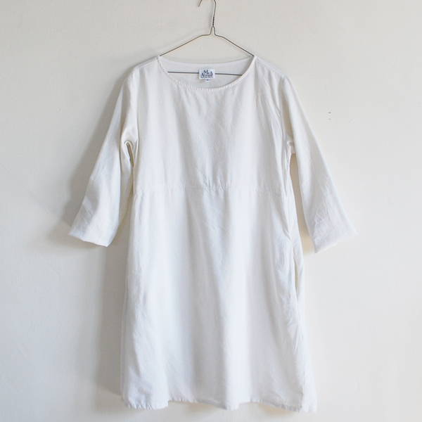 Me & Arrow Basic Dress Off white