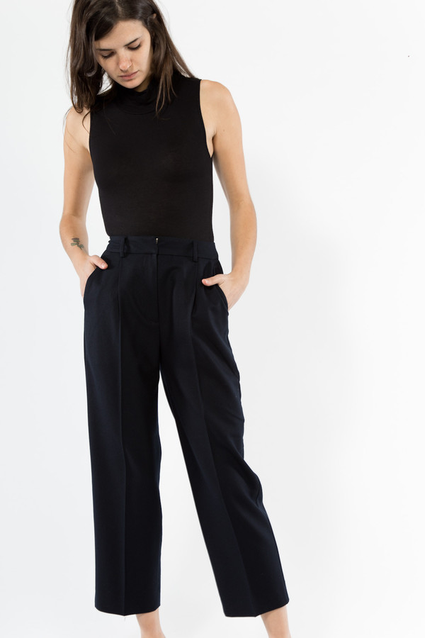 You Must Create High Waisted Wool Trouser