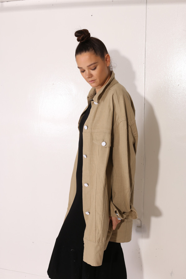 Intentionally Blank MOSS JACKET Khaki