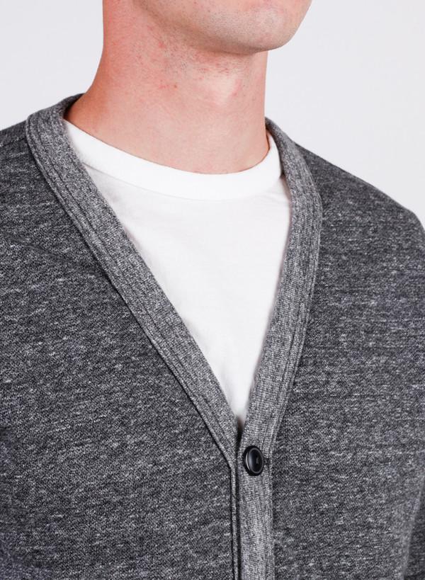Men's National Athletic Goods Varsity Cardigan Granite