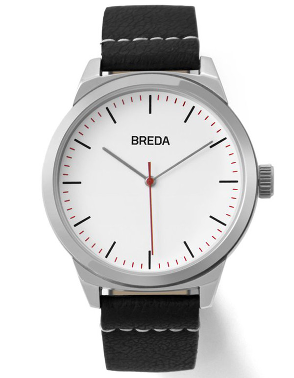 Breda Rand Watch Silver Black