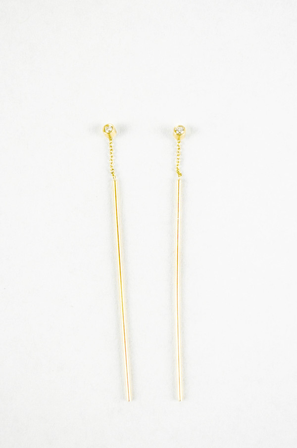 Still House 14k White Diamond Lini Earring