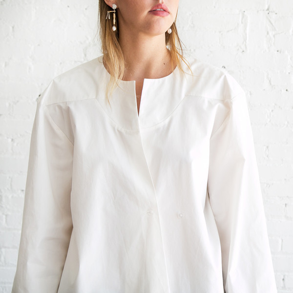 A Detacher Fern Shirt White
