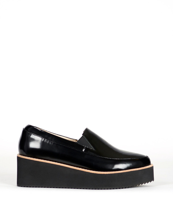 Sol Sana Tabbie Wedge Black on Black
