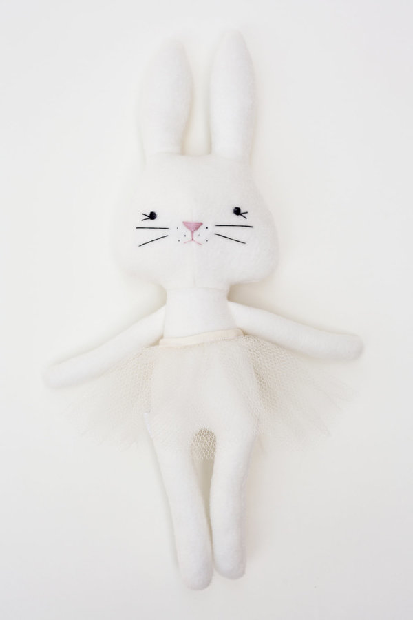 Polka-Dot Peanut Parade cream tutu bunny