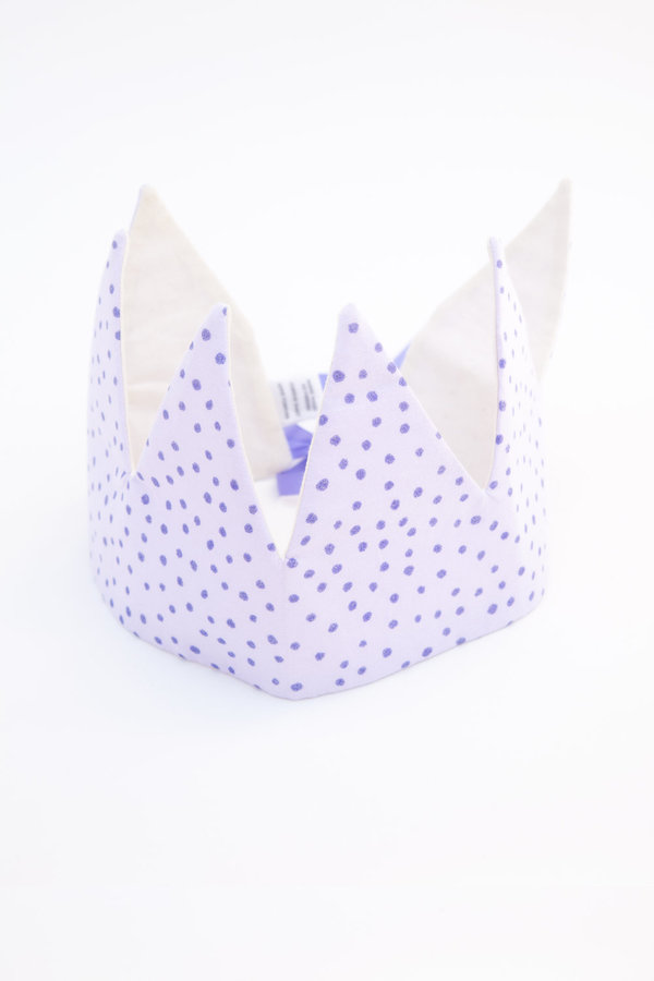 large crown - purple sparkle dots