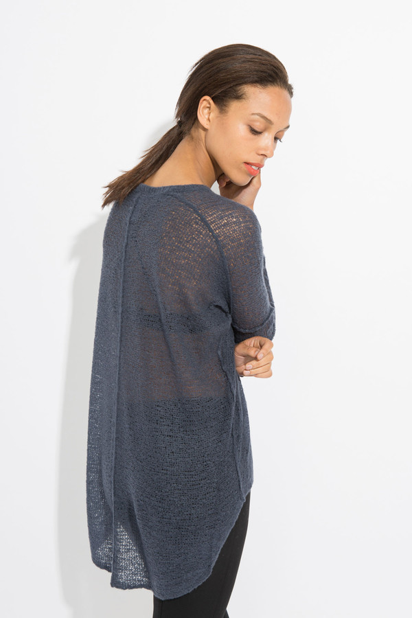 Paychi Guh Sheer Pullover - Ink Blue