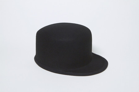 Clyde Conductor Hat in Charcoal Black
