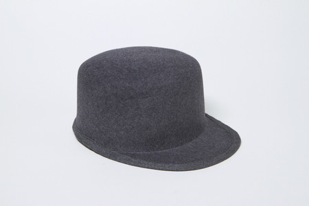Clyde Conductor Hat in Charcoal Grey