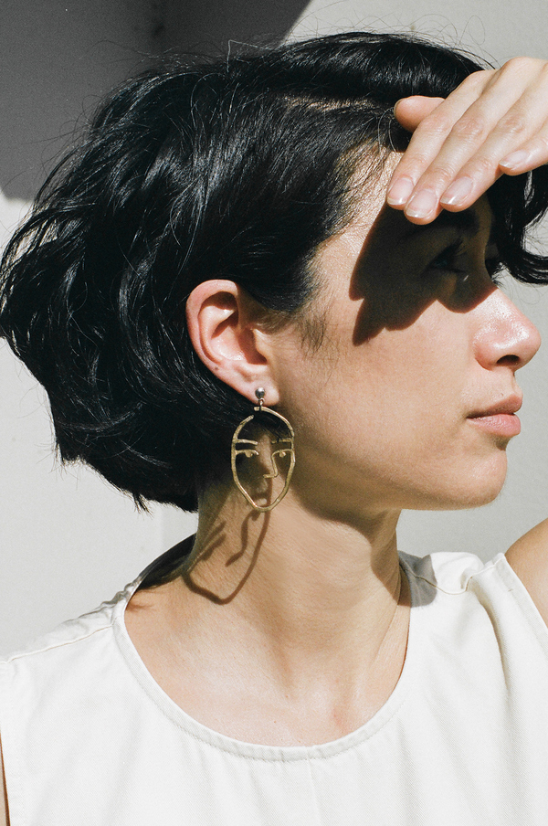 Open House Sister Earring - silver