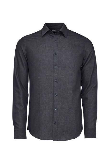 Men's Tiger of Sweden Steel 8 Cotton Shirt   Phantom