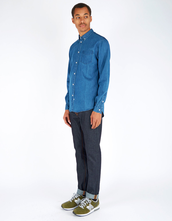 Men's Assembly Label Endless Denim Shirt Dark Denim