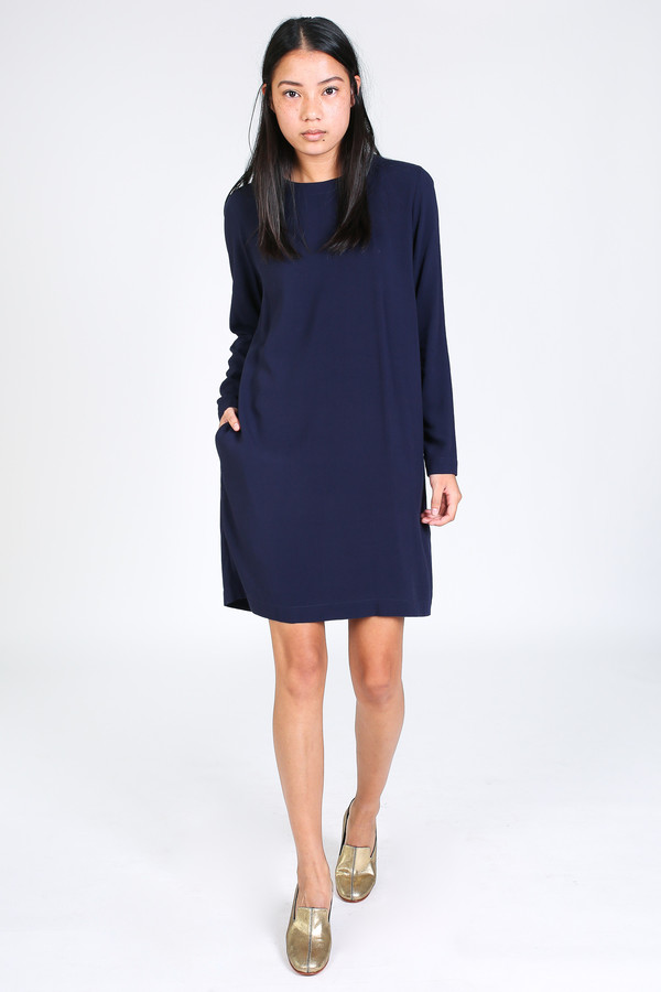 Rodebjer Candice dress in midnight blue