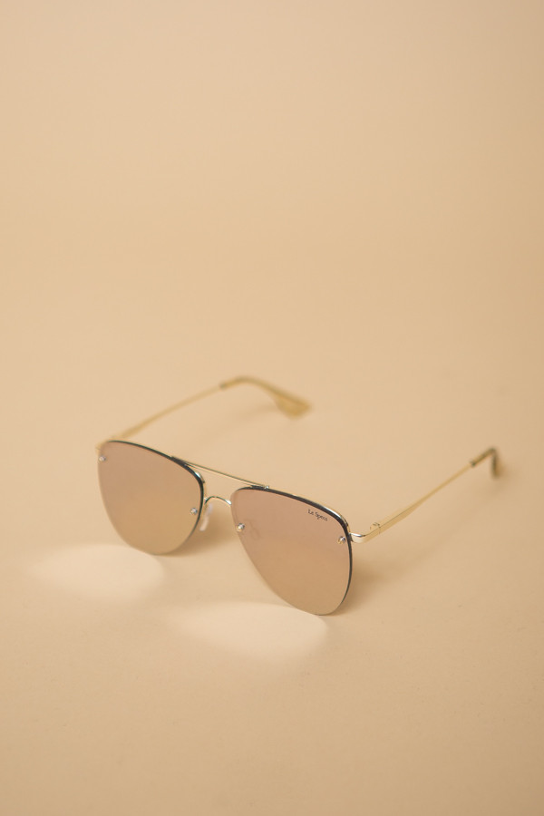 Le Specs The Prince Sunglasses / Gold