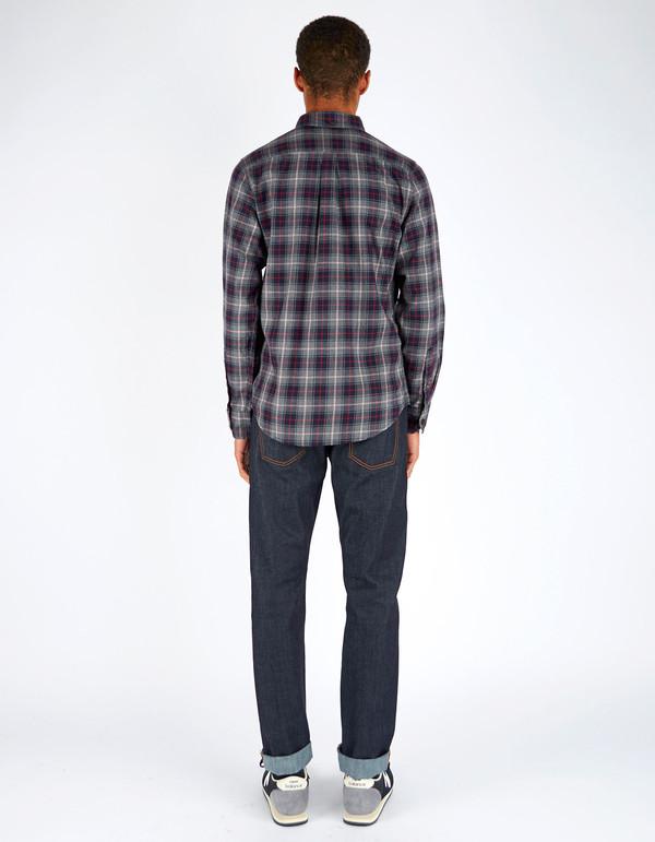 Men's Deus Albie Check LS Shirt Charcoal