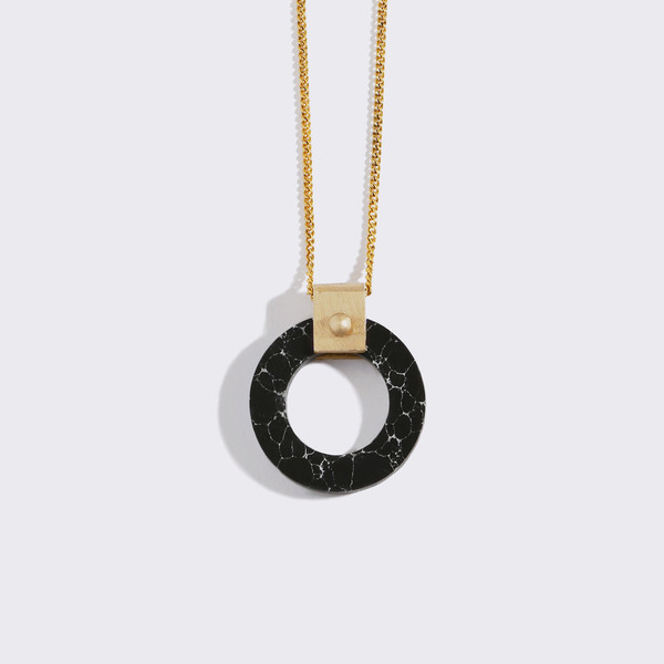 Metalepsis Projects Wheel Pendant - Black